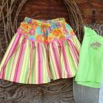 Girls skirt size 4 with mat..