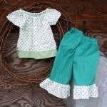 Girls Peasant dress top and..