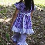 Girl's Dress with ruffles a..