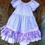 Girls Dress with ruffles an..