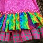 Girls ruffled twirl skirt w..