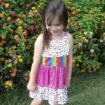 Girls ruffled sun dress siz..