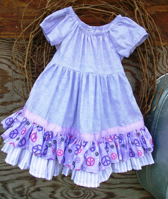 Girls Dress with ruffles and sash. size 4 super full twirl skirt,