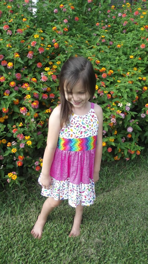 Girls ruffled sun dress size 3 spring/summer Boutique